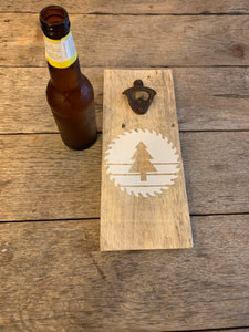 Saw & Mill Wall Mount Bottle Opener