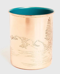 United By Blue Enamel Lined Copper Mug