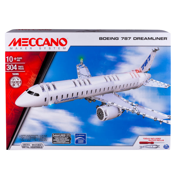 Meccano by Erector, Boeing 787 Dreamliner Model Building Kit Via Walmart
