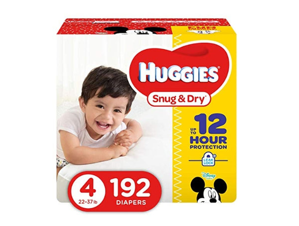 192 Count Size 4 HUGGIES Snug & Dry Diapers Via Amazon SALE $15.67 Shipped! (Reg $31.34)
