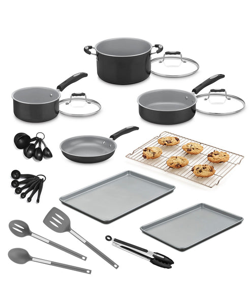 Cuisinart 24-Pc. Aluminum Cookware Set Via Macy's SALE $47.99 (Reg $199.99)