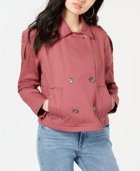 American Rag Juniors Raw-Edged Epaulette Military Jacket Via Macy's SALE $9.96 + Free Store Pickup! (Reg $79.50)