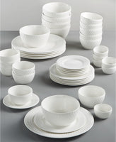 Gibson White Elements Fleetwood 42-Pc. Dinnerware Set Via Macy's SALE $39.99 (Reg $120.00)