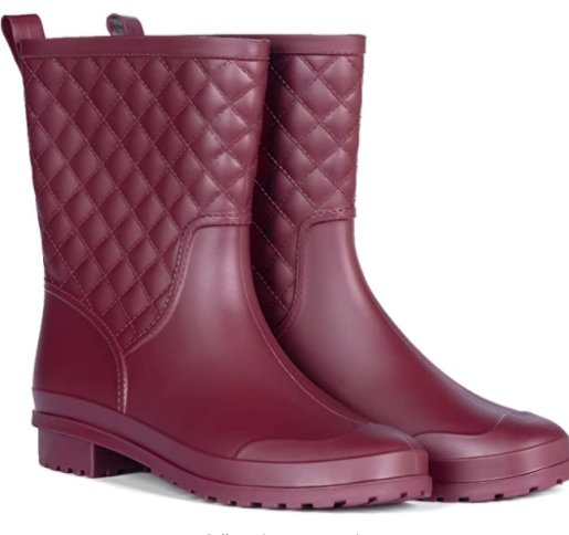 PENNYSUE Women's Mid Calf Rain Boots (Many Styles & Colors) Via Amazon