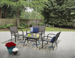 4 PCS Outdoor Patio Conversation Furniture Set Via Walmart