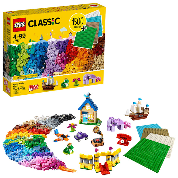 LEGO Classic Bricks Bricks Plates Building Toy (1504 Pieces) Via Walmart