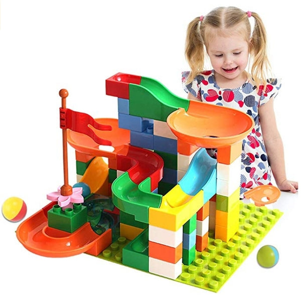 74 Pcs Marble Run Building Blocks Construction Toys Set Via Amazon SALE $14.49 Shipped! (Reg $39.99)