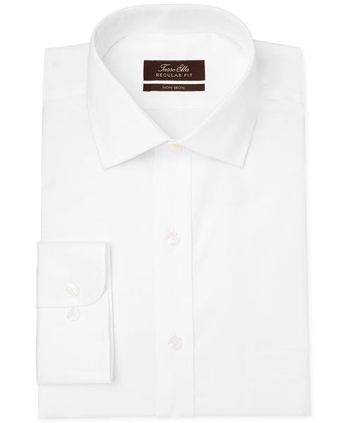Tasso Elba Classic-Fit Non-Iron White Twill Solid Dress Shirt Via Macy's SALE $20.93 (Reg $69.50)