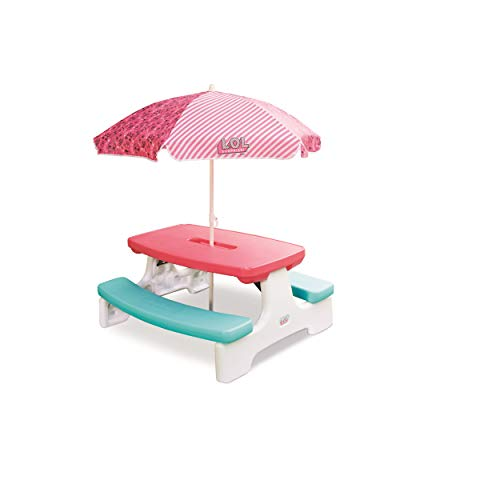 L.O.L. Surprise! Birthday Party Table with Umbrella Via Amazon