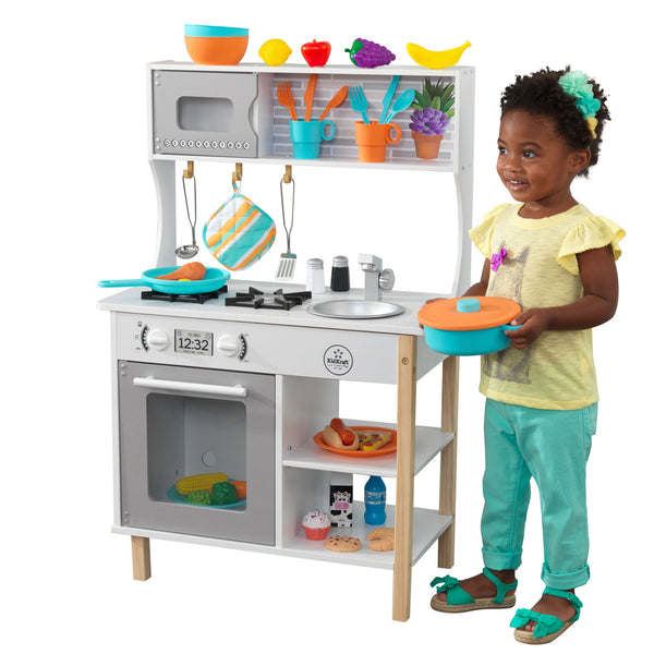 KidKraft All Time Play Kitchen with Accessories Via Walmart