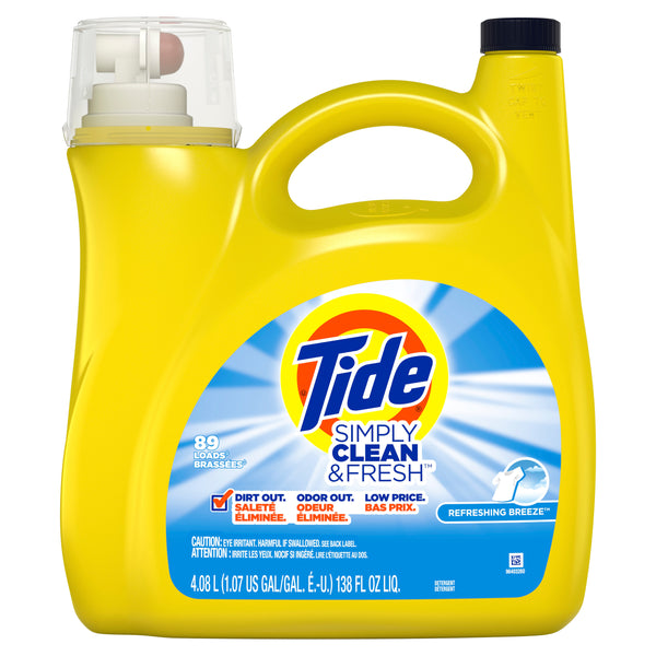 Tide Simply Clean & Fresh Liquid Laundry Detergent, 89 Loads Via Walmart