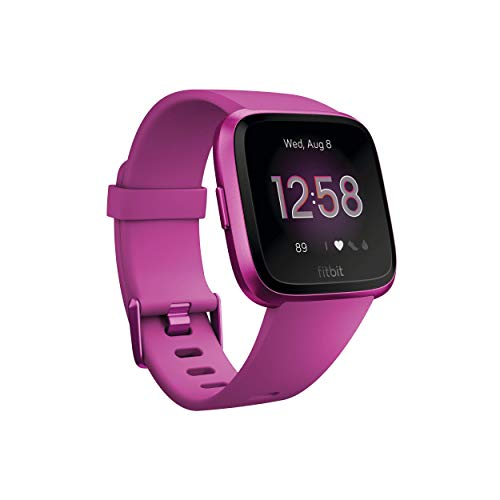 Waterproof Fitbit Versa Lite Edition Smart Watch, One Size (S and L Bands Included), More Colors Via Amazon
