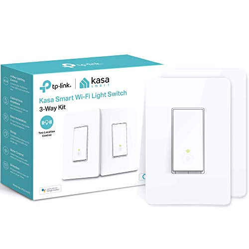 2 Pack Kasa 3 Way Smart Switch Kit by TP-Link, Wifi Light Switch Via Amazon