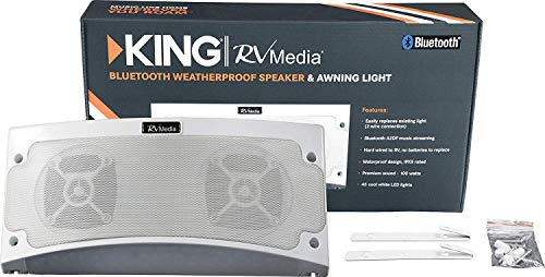 KING RVM1000 Bluetooth Outdoor Speaker with White LED Light Via Amazon