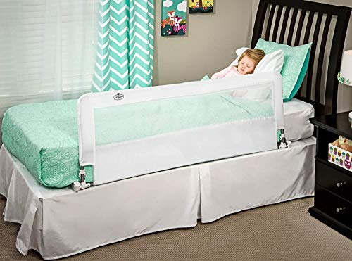 Regalo Hideaway 54-Inch Extra Long Bed Rail Guard, with Reinforced Anchor Safety System Via Amazon