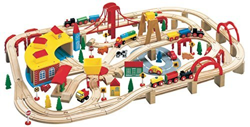 Maxim Wooden Train Set, 145-Pieces Via Amazon