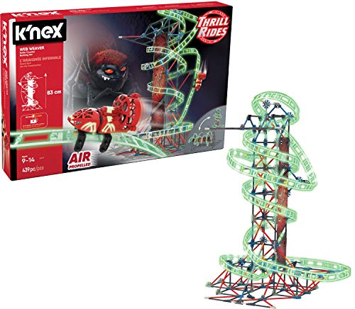 K'NEX Thrill Rides - Web Weaver Roller Coaster Building Set - 439 Pieces Via Amazon