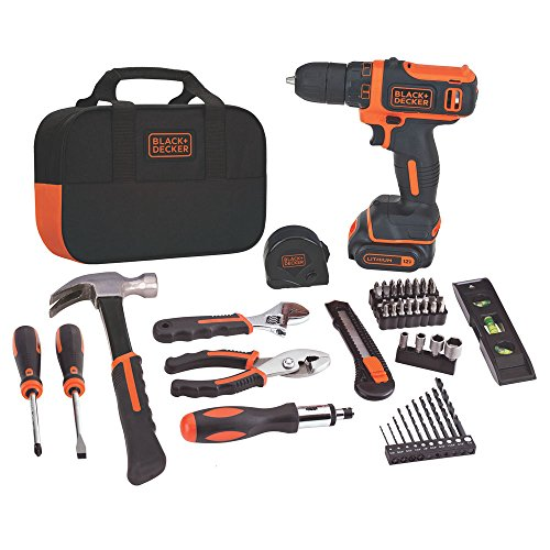 BLACK+DECKER 12V MAX Drill & Home Tool Kit, 60-Piece Via Amazon