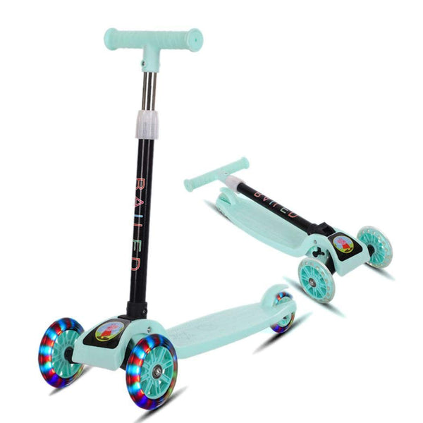 Lunir Durable Portable Folding with Flash Light Sliding Children Scooter Kick Scooters Via Amazon