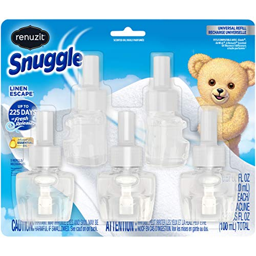 Renuzit Snuggle Scented Oil Refill for Plugin Air Fresheners, Linen Escape, 5Count Via Amazon
