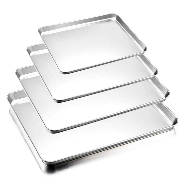 Set of 4 Stainless Steel Baking Pans Via Amazon SALE $14.49 Shipped! (Reg $33)