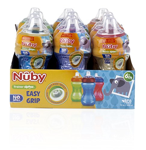 Nuby No-Spill Easy Grip Cup, 10 Ounce Via Amazon
