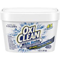 OxiClean White Revive Laundry Whitener + Stain Remover, 3 lbs. Via Amazon