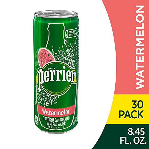 Perrier Watermelon Flavored Carbonated Mineral Water, (Pack of 30) Via Amazon