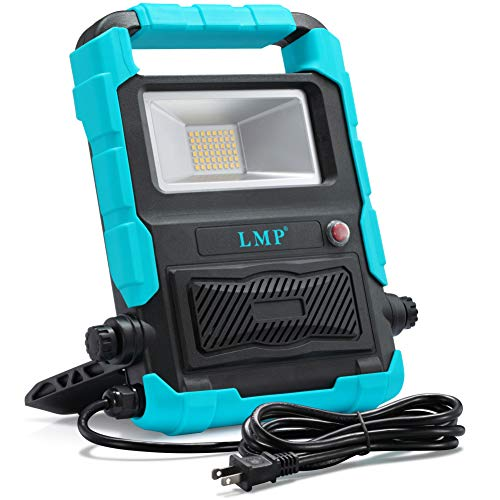 Portable LED Work Light With Wireless Bluetooth Speaker. Waterproof Via Amazon