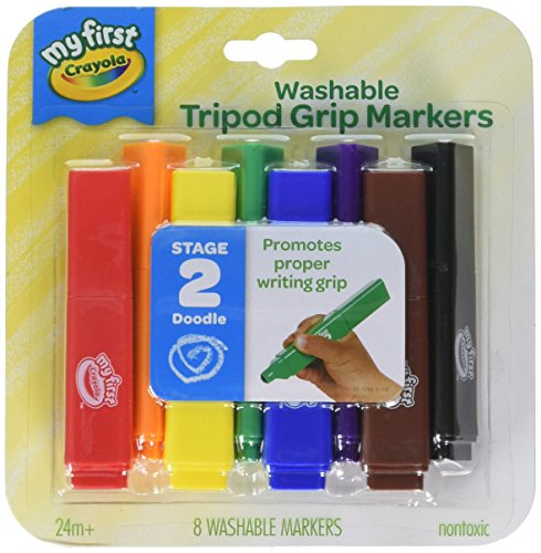 Crayola My First, Tripod Washable Markers for Toddlers, 8ct Via Amazon