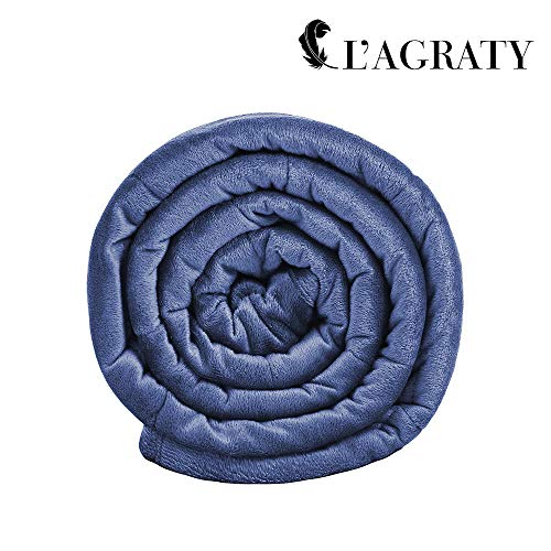 "L'AGRATY Luxury Minky Weighted Blanket for Adults (15lbs, 48"" x 72"") Via Amazon"
