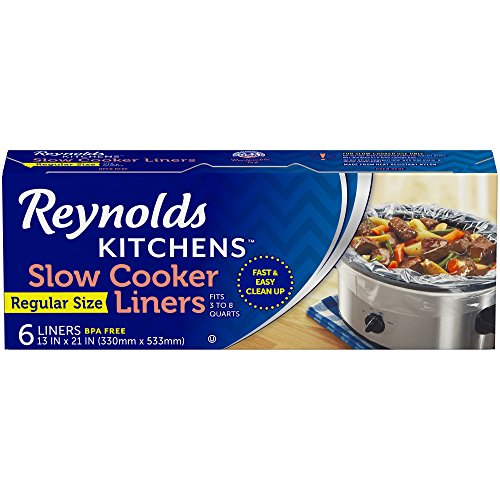 Reynolds Kitchens Premium Slow Cooker Liners - 13 x 21 Inch, 6 Count Via Amazon