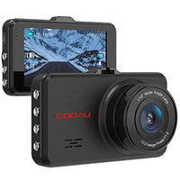 COOAU Dash Cam 1080P Full HD Night Vision in Car Dashboard Camera Via Amazon