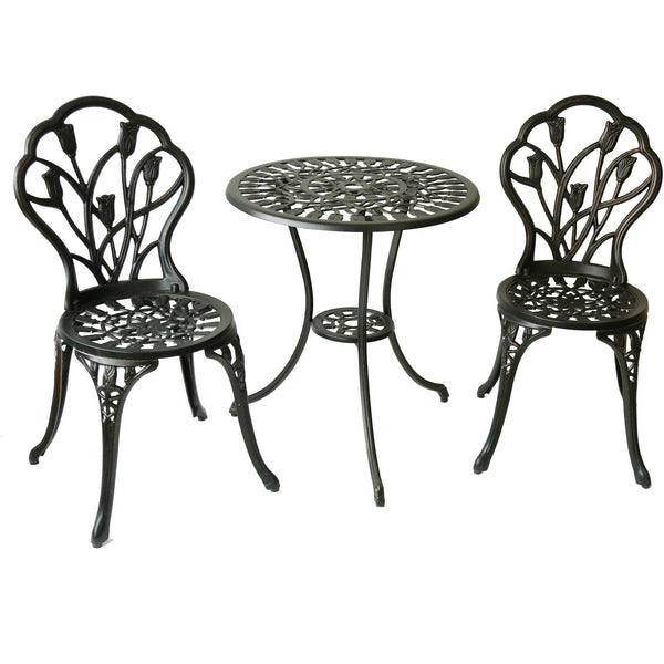 Better Homes and Gardens Tulip 3 Piece Outdoor Bistro Set Via Walmart