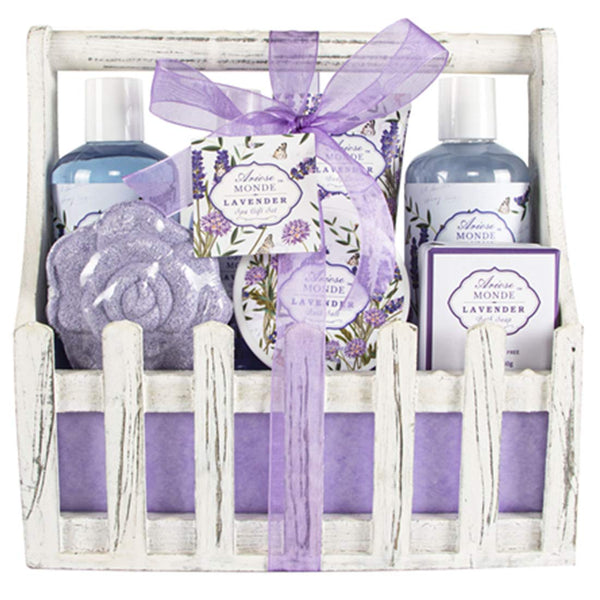 8 Piece Bath Spa Basket Gift Set  Via Amazon