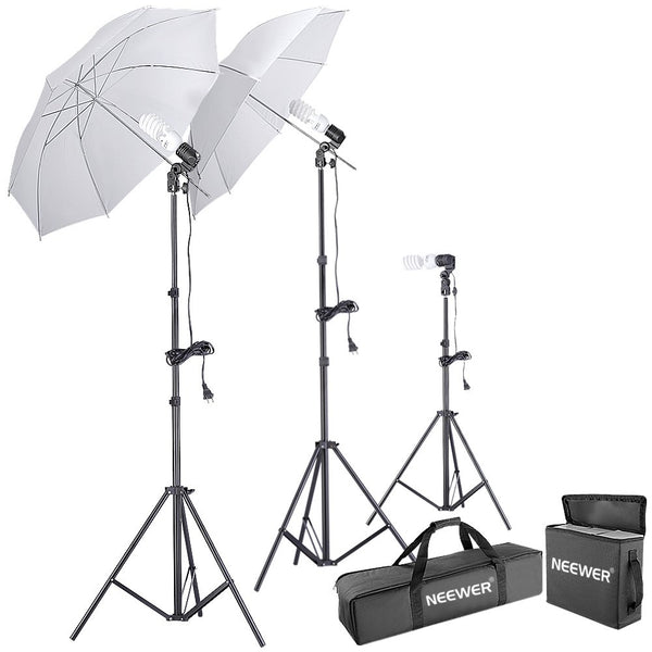 Neewer 600W 5500K Photo Studio Day Light Umbrella Continuous Lighting Kit Via Amazon