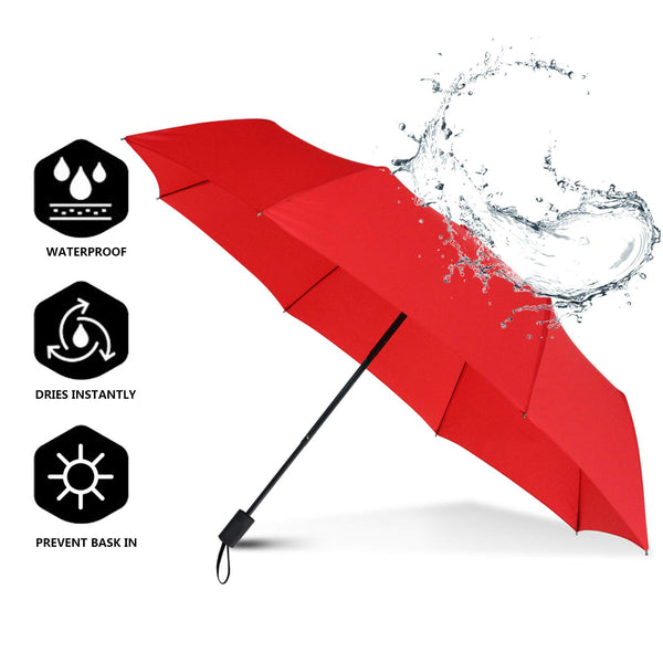 Windproof Travel Folding Compact Umbrella Via Amazon