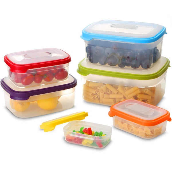 6-Piece Reusable Containers with Rainbow Airtight Easy Lids Via Amazon SALE $12.99 Shipped! (Reg $25.98)