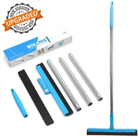 "Adjustable Water Squeegee Foam With 50"" Handle, Shower Hair Floor Wiper Via Amazon"