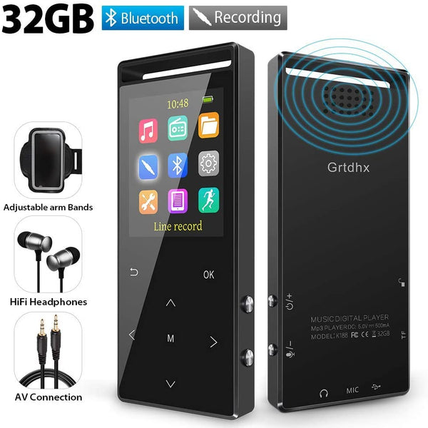 Grtdhx 32GB Bluetooth 4.1 MP3 Player Via Amazon