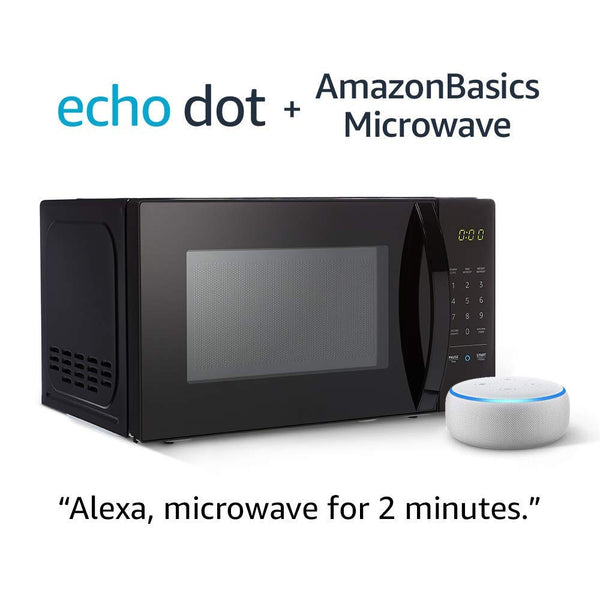 Microwave with Echo Dot (3rd Gen.) – Sandstone Via Amazon