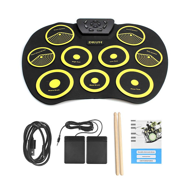 Portable Electric Drum Set Include Drum Sticks Pad Headphone Jack Built-in Speaker Via Amazon SALE $29.99 Shipped! (Reg $59.99)