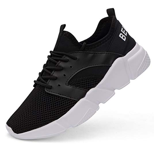 Belilent Men's Women's Fashion Breathable Walking Sneakers (Black/White-fs073) Via Amazon ONLY $15.00 Shipped! (Reg $50)