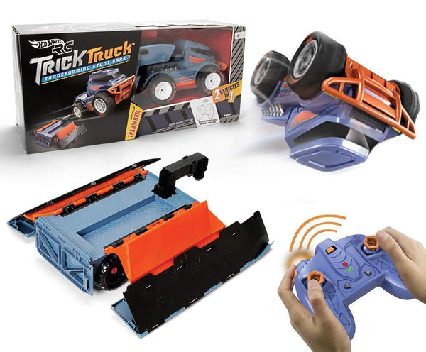 Hot Wheels R/c Trick Truck Transforming Stunt Park Vehicle Via Amazon