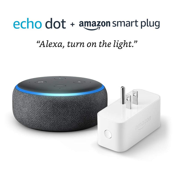 Amazon Echo Dot 3rd Generation Smart Speaker + Amazon Smart Plug