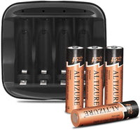 Rechargeable 4 AA Battery with Charger Via Amazon