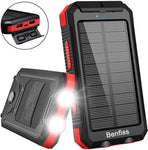 Solar Power Bank with 2 Led Light 20000mah Via Amazon