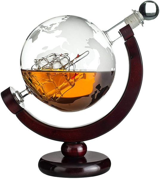 Whiskey Globe Decanter Via Amazon