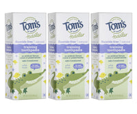 3 Count Tom's of Maine Toddlers Fluoride-Free Natural Toothpaste in Gel Via Amazon
