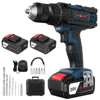 20V Cordless Drill with 2 Batteries and Charger Via Amazon ONLY $26.99 Shipped! (Reg $60)
